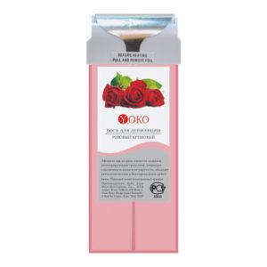 Воск в картридже Yoko WAX PS Розовый кремовый широкий ролик натуральные компоненты стандартный размер 100 г.