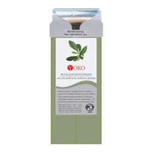 Воск в картридже Yoko WAX TT Чайное дерево широкий ролик натуральные компоненты стандартный размер 100 г.